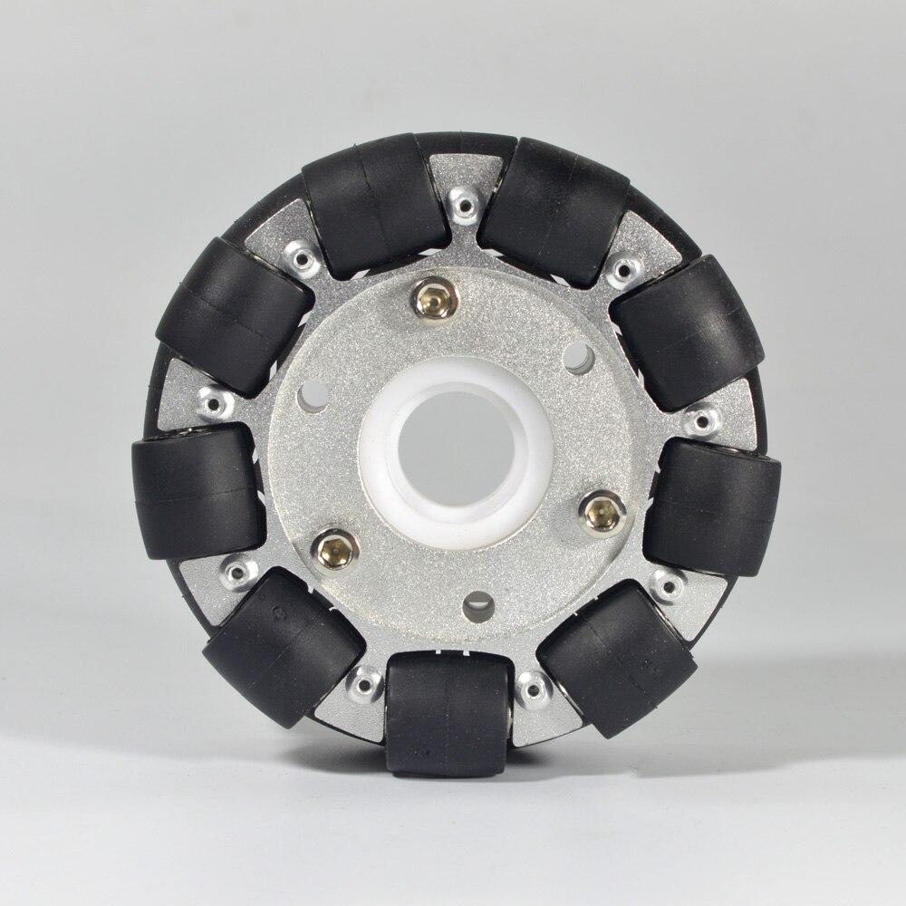 100mm Double Aluminium Omni Wheel /W Bearing Rollers 14054