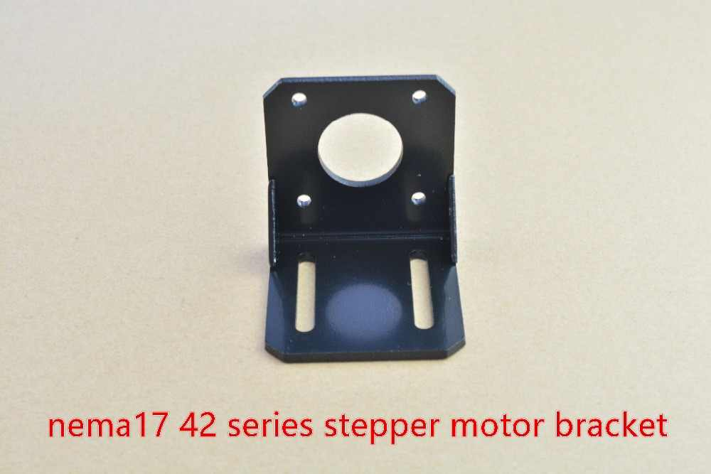 Nema17 L bracket 42 stepper motor ติดตั้งสีดำเหล็กยึด diy cnc ชิ้นส่วน L ประเภท 42 brackst 1 pcs