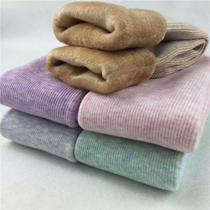 Women Winter   Socks   Warm Elastic Thick Home Floor   Socks   Women Fleece Soft Striped Short   Sock   4pairs