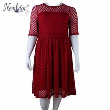 Nemidor Half Sleeve Lace Summer Party A-line Dress