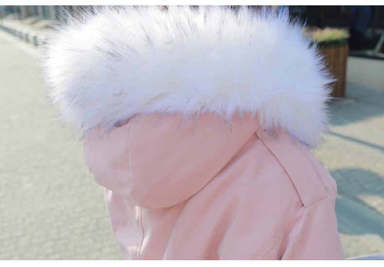 Zvaqs Fur Ouatée pink 2018 Femmes Court Pardessus light Nouveau Hiver Veste Coton Fur Grey Fur Grand Fur White Parka Pink Femme black St475 Fourrure Manteau Épais Coréen Style Col rp6wrq1A