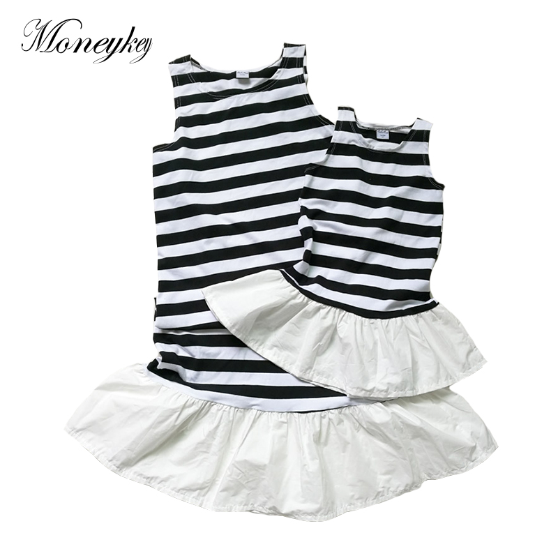Mother And Daughter Dresses Striped Summer Dress For Girls And Mom Clothes Family Matching Clothes Mother Kids Outfits Clothing