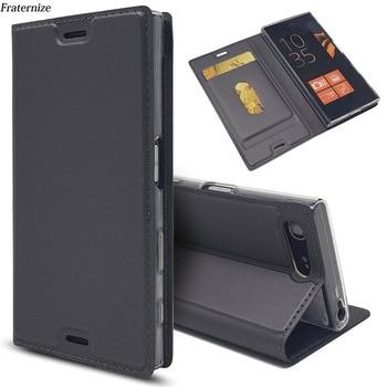 Перейти на Алиэкспресс и купить Кожаный флип-чехол-бумажник для Sony Xperia XZ3 XZ1 XZ2 Z5 Compact X XZ Premium XA XA1 Plus XA2 Ultra L2 L1 Магнитный чехол-подставка