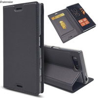 Skórzany portfel z klapką do Sony Xperia XZ3 XZ1 XZ2 Z5 kompaktowy X XZ Premium XA XA1 Plus XA2 Ultra L2 L1 magnetyczny futerał z podstawką