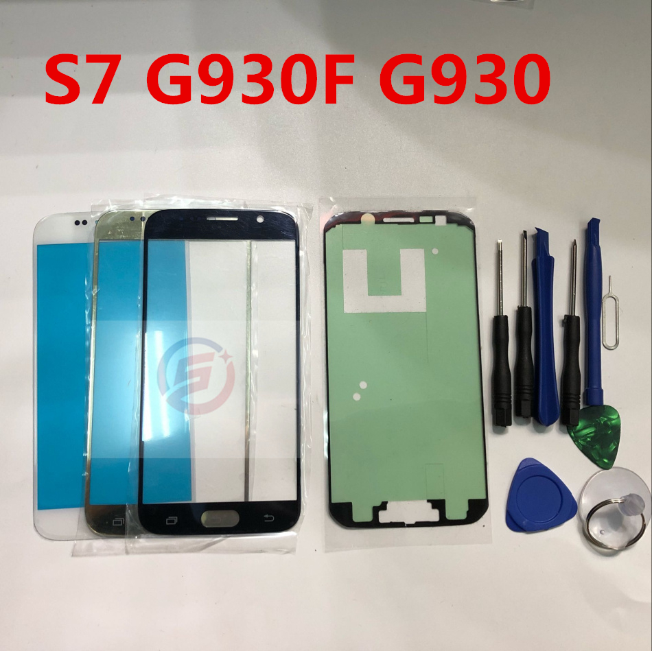 Front Outer Glass Lens Touch Screen Replacement For Samsung Galaxy S7 G930 G930A G930F G935F S7 Edge + Repair Tools & Adhesive
