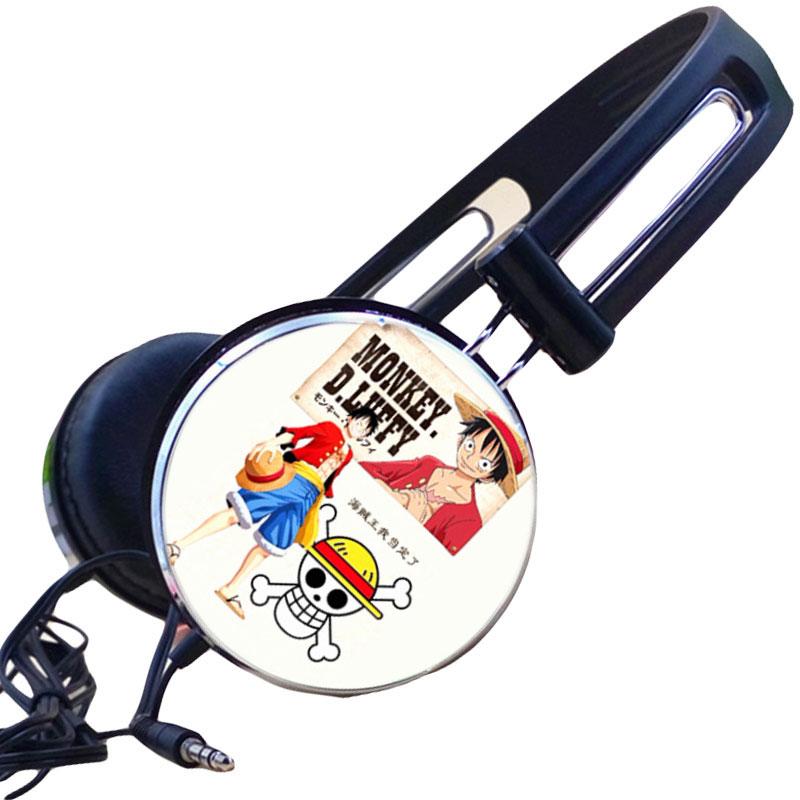 MLLSE Anime One Piece Luffy Chopper Cartoon Headphone Stereo Earphone Gamer Headset Headphones for Iphone Samsung Xiaomi Huawei mllse anime fairy tail cartoon in ear earphone portable aux wired stereo earbuds sport mic headset for iphone samsung xiaomi mp3