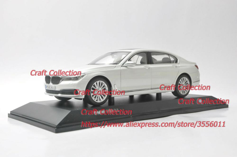 1:18 Diecast Model For 750Li 760Li White Sedan Alloy Toy Car Miniature Collection Gifts