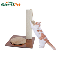 New Fun Domestic distribution hot cat pet kitten scratched plate pad Post Tree Scratcher saddle hemp cat kitten pet plush ball