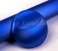 Best Quality! Blue Brushed Chrome Vinyl For Car Wrap with air release / 1 pcs Squeegee gift PROTWRAPS SIZE 1.52X20M / 5x67ft