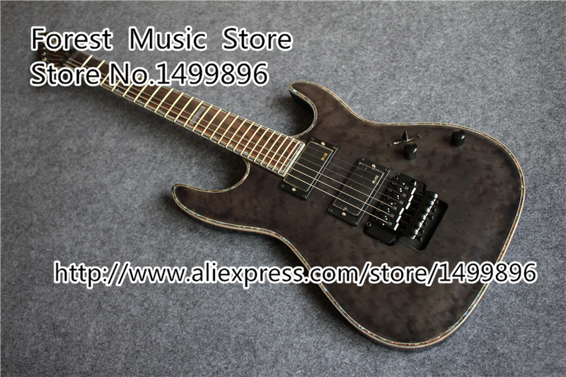 Top Selling 24 Frets Light Grey Quilted Finish ESP LTD MH-1000 Guitars Electric With EMG Style Pickup Left Handed Available top selling chinese sg 400 electric guitar zebra stripe finish guitars body