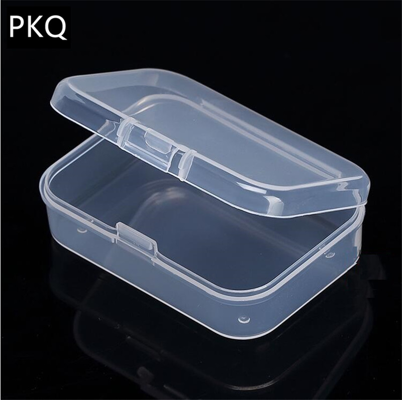 30PCS//Box Plastic Clear Jewelry Container Box Storage Organizer With Lid