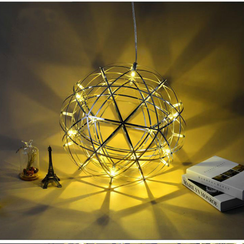 купить Nordic Creative LED Chandeliers Modern Restaurant Clothing Store Bar Stairs Shopping Mall Starry Sparkle Ball Lights по цене 3564.86 рублей