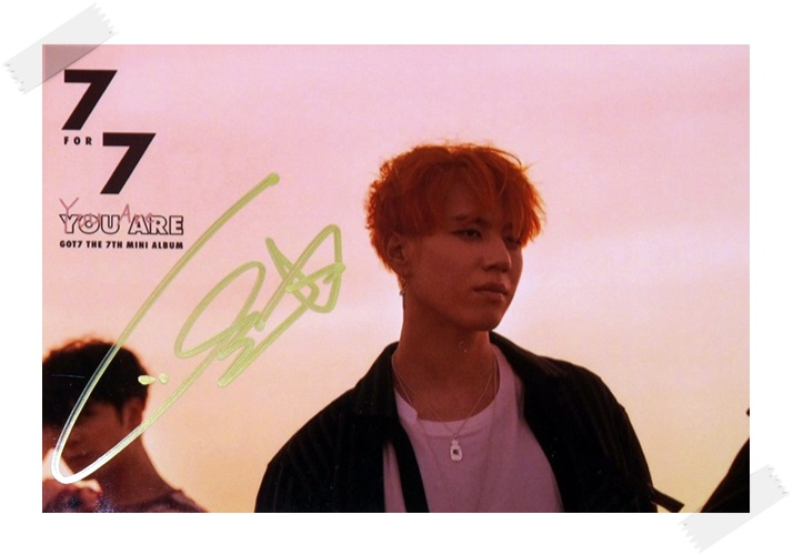 signed GOT7 GOT 7 Kim YuGyeom Yu Gyeom autographed photo  7 FOR 7 6 inches free shipping 102017C signed got7 got 7 kim yugyeom yu gyeom autographed photo 7 for 7 6 inches free shipping 102017a