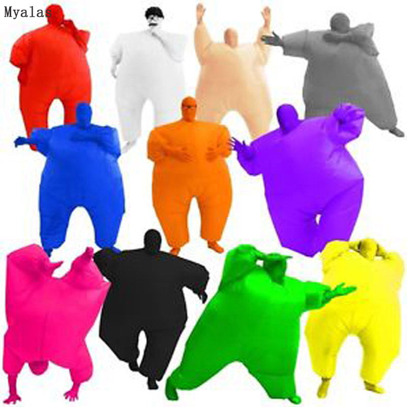 Costume Inflatable Full Body Suit Inflatable Costume Teen Club Suit Full Body Jumpsuit Costume Green Masked Man Adult Large
