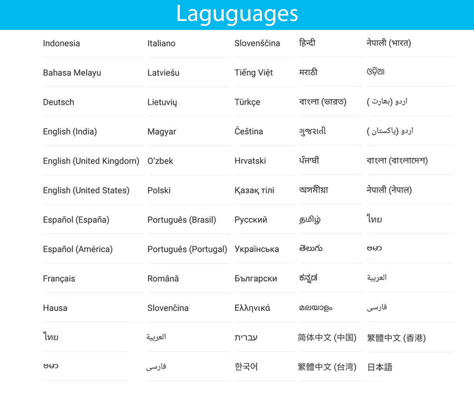 Redmi Note 5A 5 A languages 1