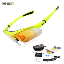 WOSAWE Polarized Cycling Sun Glasses Outdoor Sports Bicycle Glasses Bike Sunglasses Driving Racing Goggles Eyewear 5 Lens