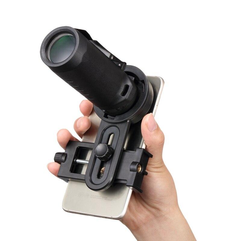 imágenes para Dongcaqiuhao 30x25 senderismo concierto bird watching hd telescopio monocular lente de la cámara + clip holder + cubierta de la lente para smartphones