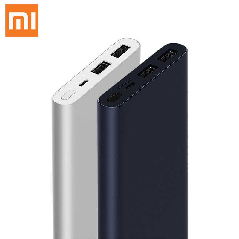 10000mAh シャオ mi mi 電源銀行 2i 外部バッテリー銀行 18 ワット急速充電 Powerbank 10000 PLM09ZM デュアル USB 出力電話