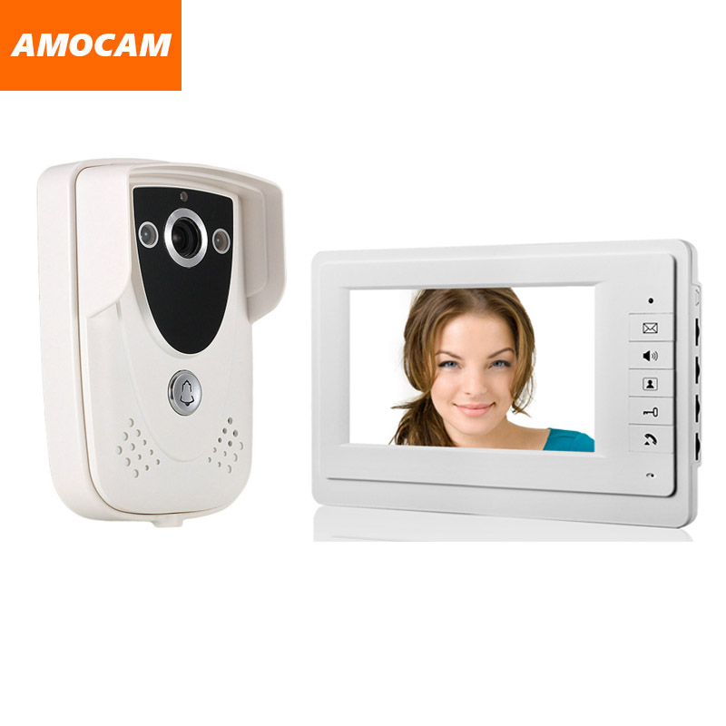 Video Door Phone doobell system 7 inch Monitor IR Night Vision Waterproof Camera video intercom doorphone kit