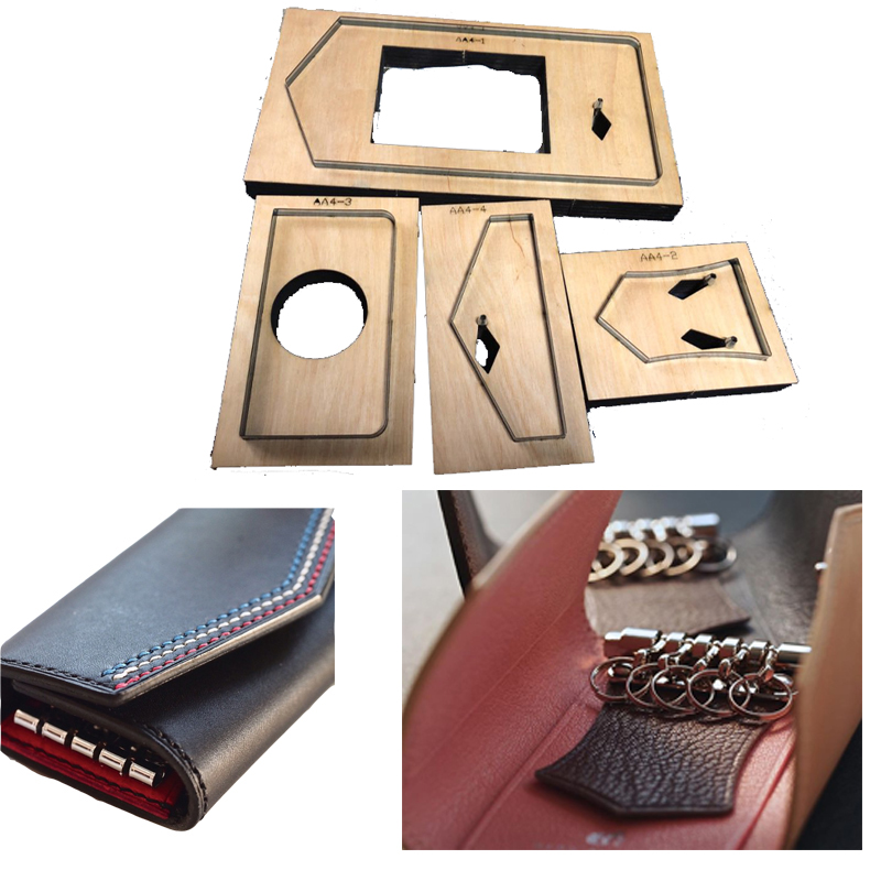 Japan Steel Blade Handmade Leather mold Key Bag Leathercraft Hollow Punch Knife Mould Template DIY Hand