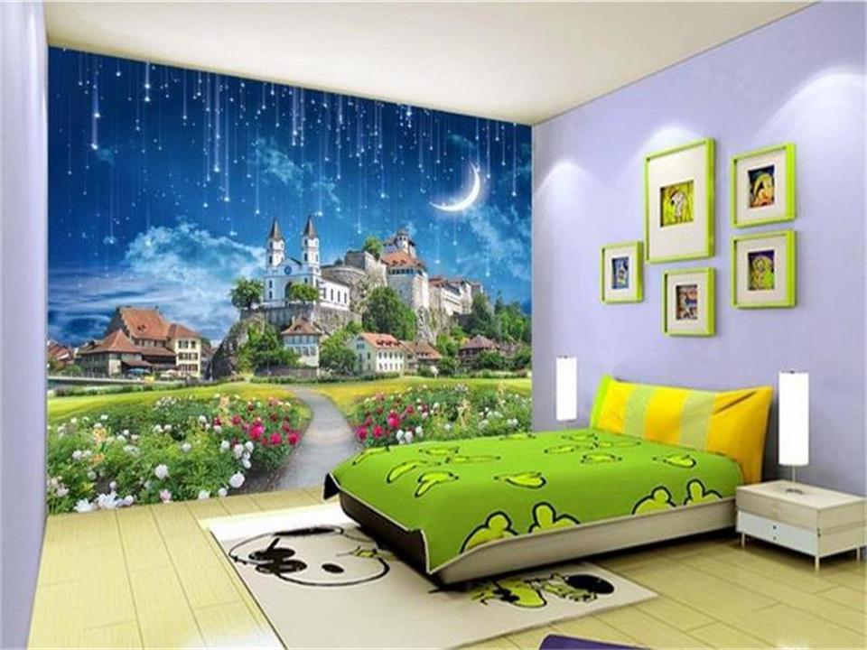 3d wallpaper photo wallpaper custom livingroom mural dream castle meteor shower 3d painting TV background wallpaper for walls 3d