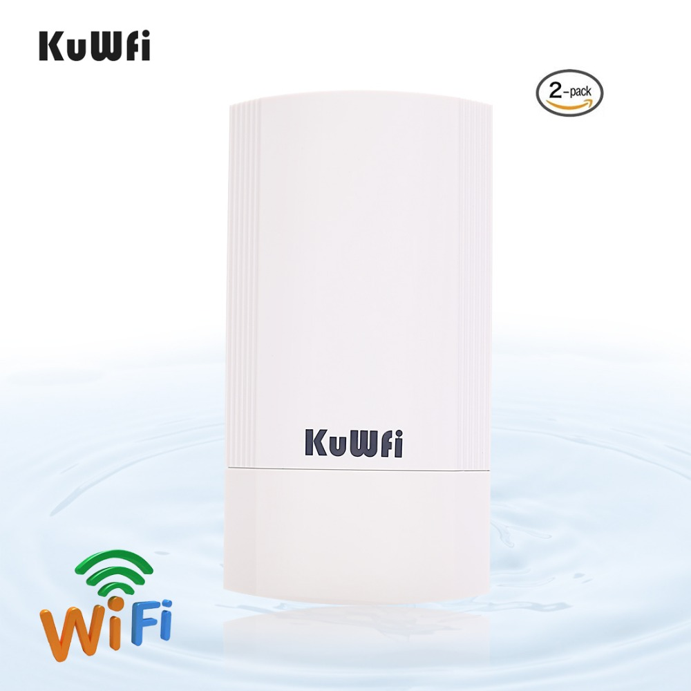 Image 3 - 2 Piece 5Ghz 450Mbps 2KM p2p Wireless Outdoor Wireless CPE Bridge Router Supports WDS Function No setting with LED Display-in Wireless Routers from Computer & Office