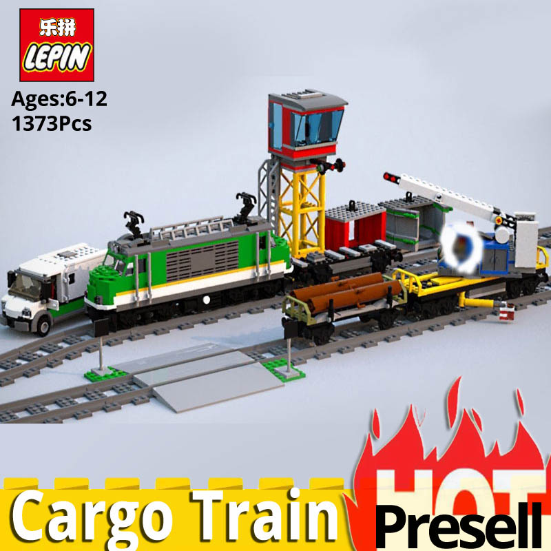 Lepin 02118 City Series Cargo Train Model Toys Compatible Legoinglys City 60200 train Set Building Blocks Bricks Birthday Gift 2018 lepin 02118 city series rc cargo train set compatible legoinglys 60198 city train building blocks bricks toys for children