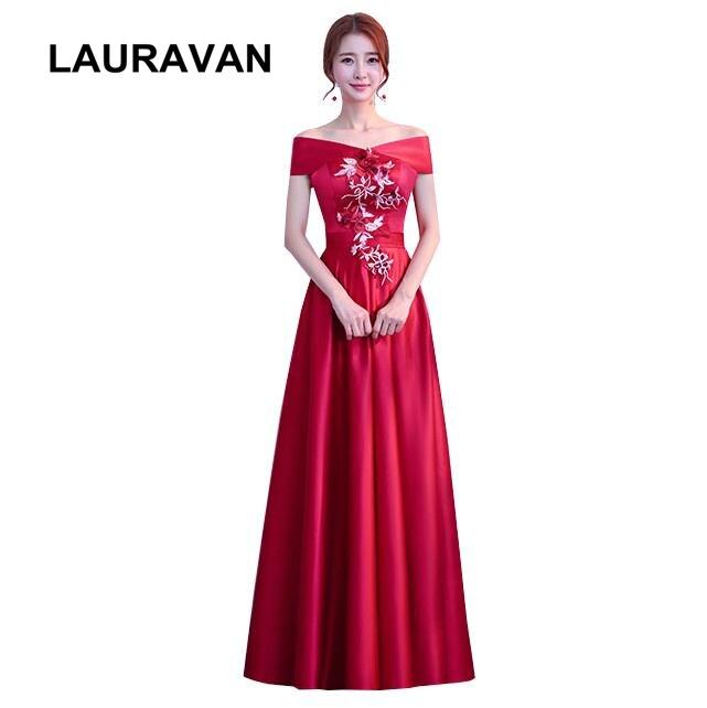 Us 38 6 Dengan Harga Murah Formal Murah Panjang Gaun Pesta Perempuan Cantik Merah Marun Gaun Bola Korset Bridesmaid Gaun Gadis Sederhana Wanita