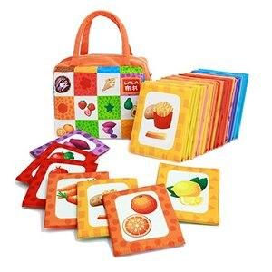 26 шт. тканевые сенсорные карты для развития языка памяти Монтессори Обучающие Игрушки для раннего развития подарок для детей