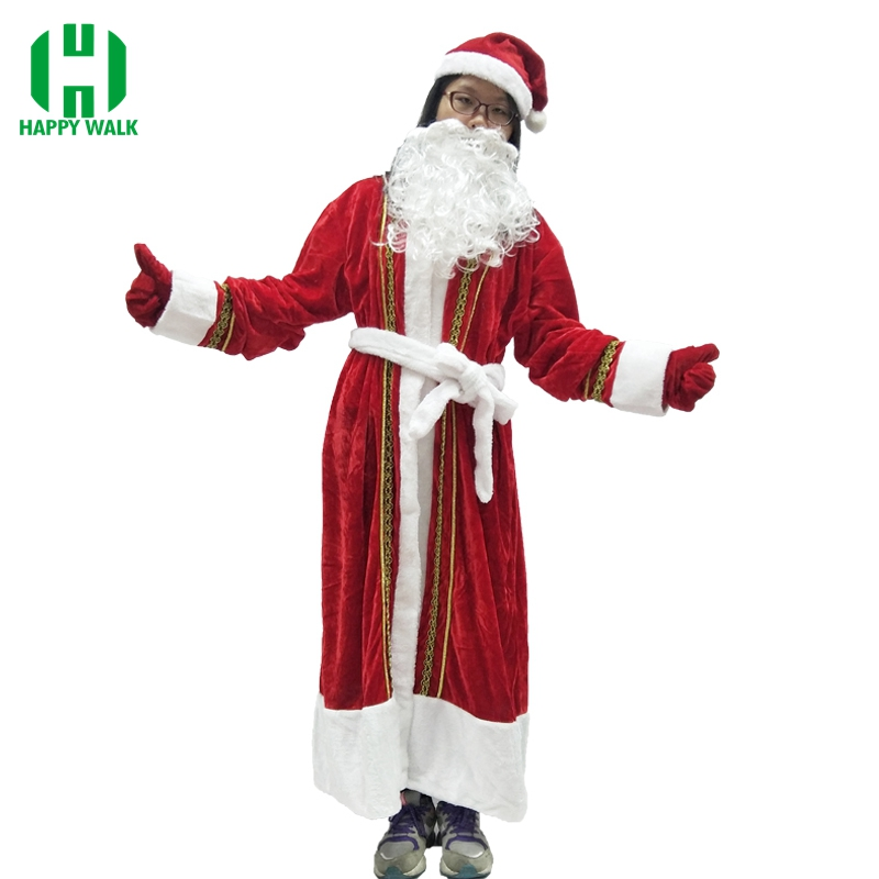 Russia Christmas Santa Claus Costume Women Cosplay Santa Claus Clothes Fancy Dress High Quality Costume Suit For Adult