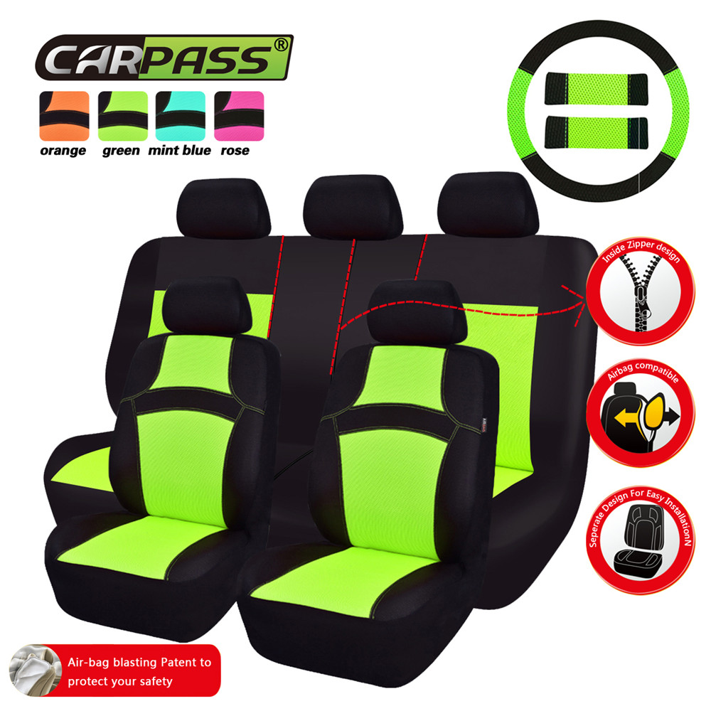Sensational Us 21 29 29 Off Car Pass Rainbow Full Set Universal Car Seat Covers Car Styling Seat Protector Automobiles Seat Cover For Toyota Corolla Lada Vw In Cjindustries Chair Design For Home Cjindustriesco