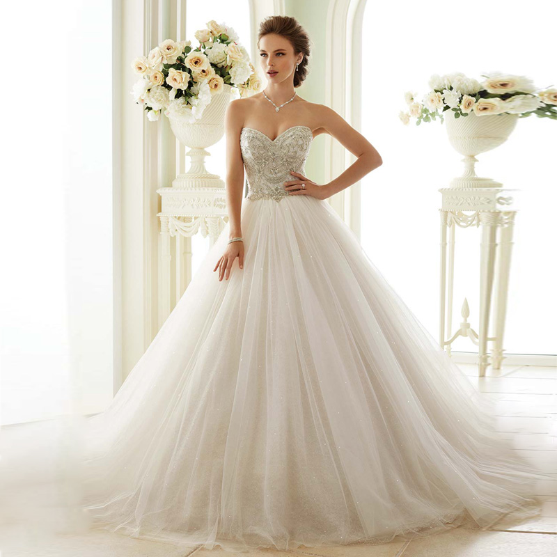 Cost Of Sophia Tolli Wedding Gowns: Berydress 2016 Expensive Luxurious Crysatks Beading Sweet