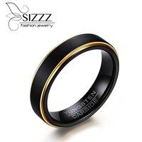 SIZZZ 5MM Wide 8 5G Weight Tungsten Steel Made Custom Wholesale Tungsten Steel Wire Black Gold