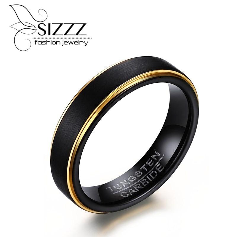 Black Zirconium Ring Diagonal Miled Men Wedding Band Comfort Fit Satin LWR