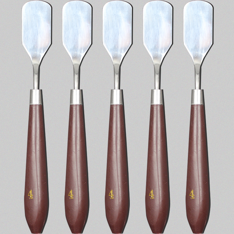 Stainless Steel Wooden Handle Color Matching Shovel Oil Painting Knife Artist Crafts Spatula Palette Knife School Art Supplies