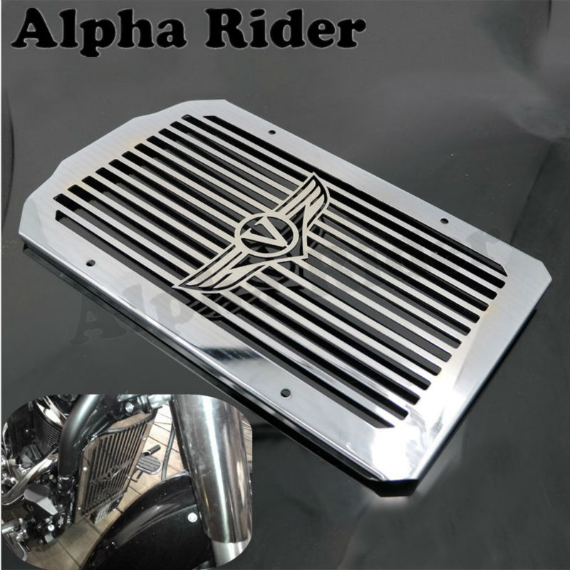Motorcycle Engine Radiator Cover Bezel Grille Guard Protector for Kawasaki VN900C Vulcan 900 Custom 2007-2014 13 12 11 10 09 08 motorcycle radiator protective cover grill guard grille protector for kawasaki z1000sx ninja 1000 2011 2012 2013 2014 2015 2016