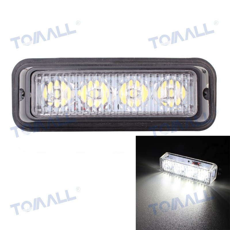 5 Truck Side Marker Lamp 12W 4LED Car Flashing Warning Lights Bar Signal Lamp White Light 720lm 12~24V Waterproof 2pcs truck light 4 leds lamp