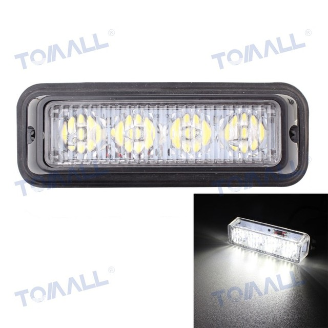 5 truck side marker lamp 12w 4led car flashing warning lights bar 5 truck side marker lamp 12w 4led car flashing warning lights bar signal lamp white aloadofball Image collections