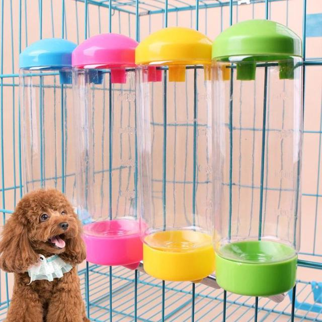 400 Ml Dog Drinking Bottle Hang Up Automatic Slow Pet Fountain Stainless Steel Water Head Easy Use