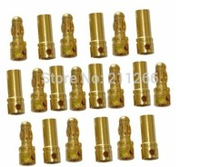 Top Fashion New Arrival 10pairs Trex 450 250 Hsp Servo Tamiya 3 5mm Gold Bullet Connector