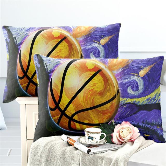 3D Basketball Kissenbezug Jungen Teens Sport Design Kissen Abdeckung Basketball Fans Kissen Fall Umschlag Tasche Bettwäsche
