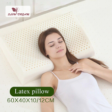 Slowdream Adult Pillow Thailand Natural Latex Pillow Healthy Care Neck And Spine Protection Slow Rebound For Cervical Health in stock 2018 xiaomi 8h z2 natural latex elastic soft pillow neck protection cushion