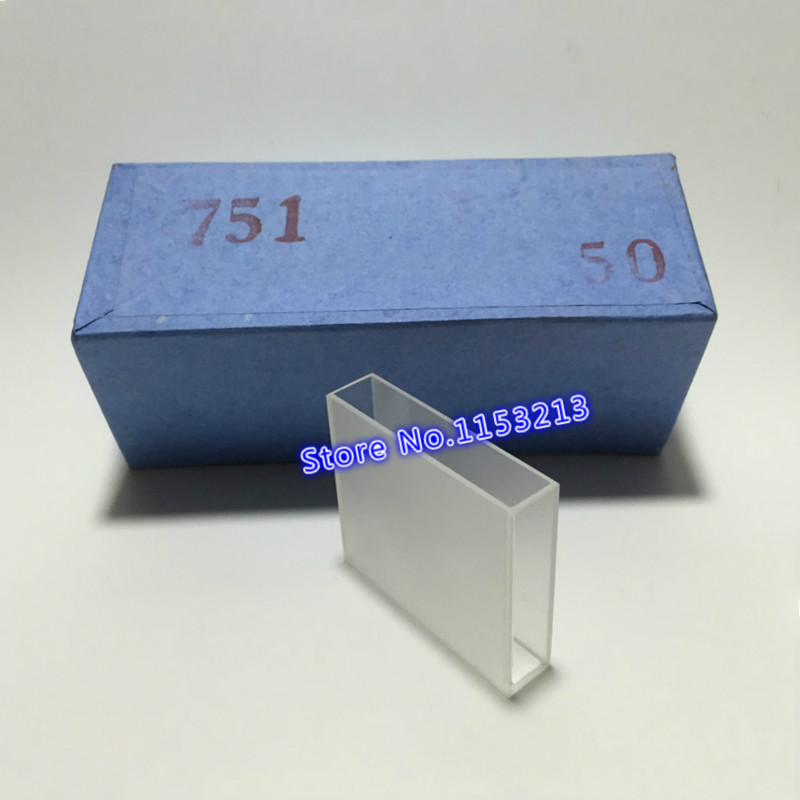 Glass Cuvette Light Path 50mm ( Liquid Sample Cell ) 17.5ml Optical Glass Absorption Cells Use For Spectrophotometer 2pcs/pk