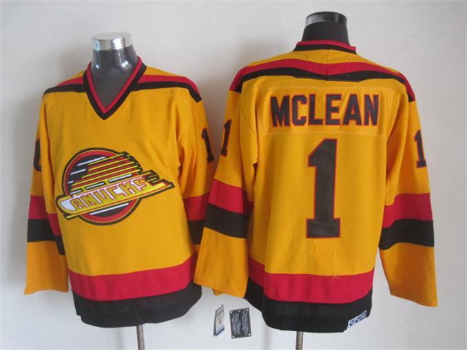 497d00413 ... Stitched NHL Jersey Vancouver Canucks Jersey 1 Kirk Mclean 10 Pavel  Bure 16 Trevor Linden 1989 CCM Vintage Throwback ...