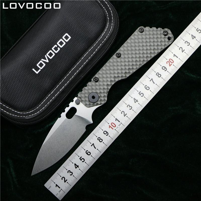 LOVOCOO SMF Folding Knife D2 blade TC4 Titanium Pits handle Copper washer kitchen outdoors hunting utility fruit Knives EDC Tool rinnai smf 42 квт купить
