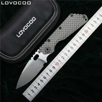 LOVOCOO SMF Folding Knife D2 blade Titanium Nudist/Pits handle Copper washer kitchen outdoors hunting utility Knives EDC Tools - DISCOUNT ITEM  0% OFF All Category