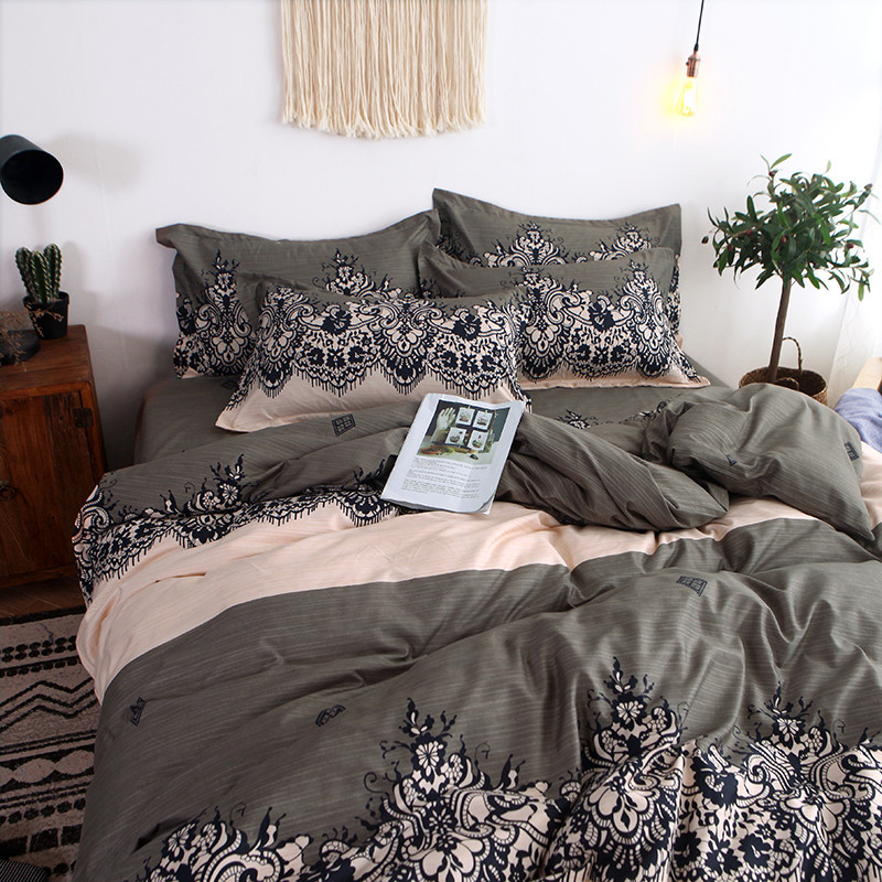 Image 4 - Four Piece Quilt Cover, Exotic Full Size Pillowcase warm wonderful prints with dreaming stars Gently Cycle Only mattress bed pad-in Bedding Sets from Home & Garden