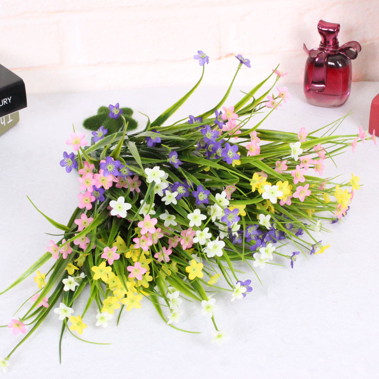 Flower Small Silk Flowers 5 Colors Decoration Flower For Wedding