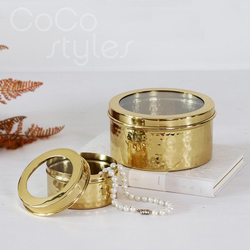Cocostyles InsFashion супер роскошный круглый золотой ювелирный ящик ручной работы для богатого человека, домашний декор 2020 новый год