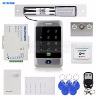 DIYSECUR 125KHz RFID Reader Password Keypad + Electric Bolt Lock + Door Bell + Remote Control Access Control Security System
